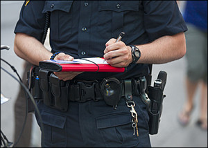 Background screening for police officers now includes psychological testing.