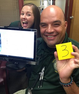 "Detective Sye from the Glendale Police Department in Arizona recently took the EyeDetect ""numbers test,"" where the candidate picks a number between 1-10 and then purposely lies about it. ""I got busted,"" he said when EyeDetect correctly guessed his number was 3."